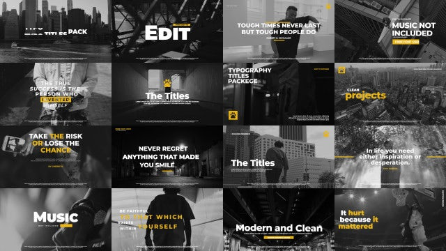 Typographic Titles Pack: After Effects Templates