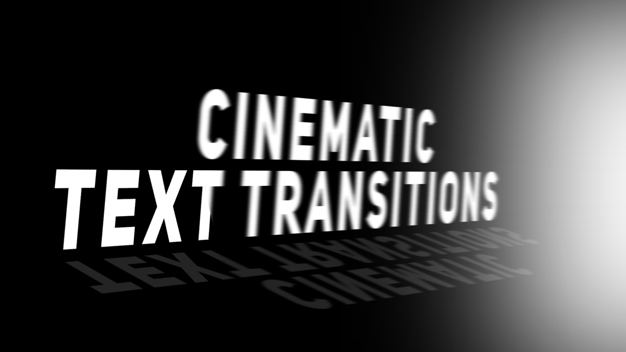 Cinematic Text Transitions 187294 + Music