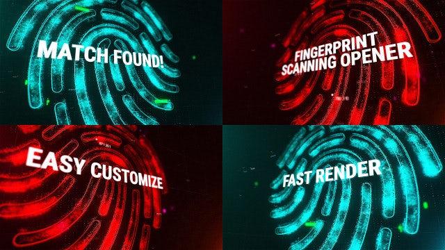 Fingerprint Scanning Opener: Motion Graphics Templates