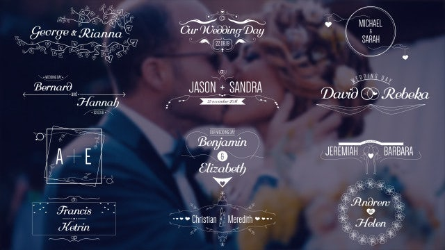 Wedding Titles 4K: Motion Graphics Templates