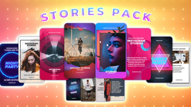 Instagram Stories Pack 13: Motion Graphics Templates