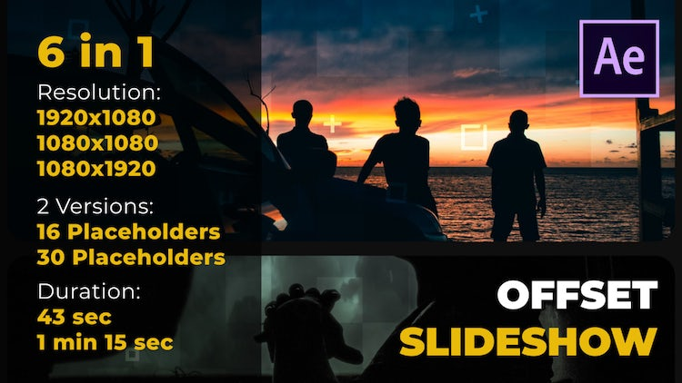 Offset Slideshow: After Effects Templates