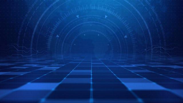 Blue Tech Digital Background: Stock Motion Graphics