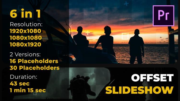 Offset Slideshow: Premiere Pro Templates