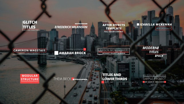 Glitch Titles & Lower Thirds: Motion Graphics Templates