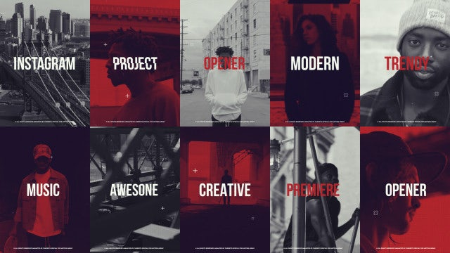 Instagram Dynamic Opener: Premiere Pro Templates
