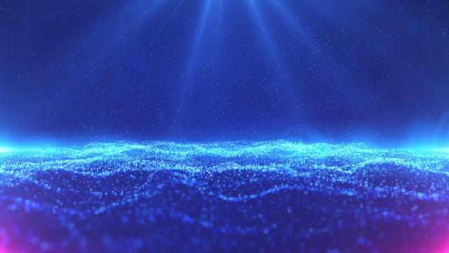 Blue Elegant Particles Wave: Stock Motion Graphics