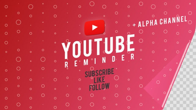 Youtube Reminder: After Effects Templates