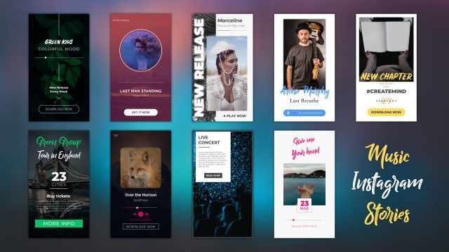 Music Instagram Stories: After Effects Templates