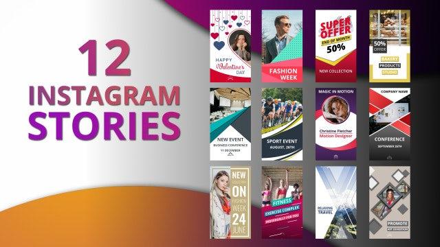 Instagram Stories Mogrt Motion Graphics Templates Motion