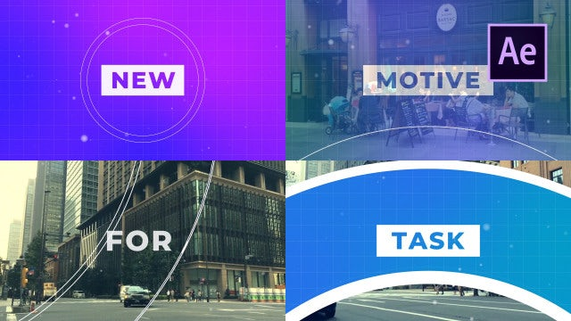 Fast Typo Slideshow: After Effects Templates