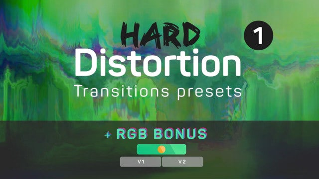 Hard Distortion Transitions 1 (+RGB): Premiere Pro Presets