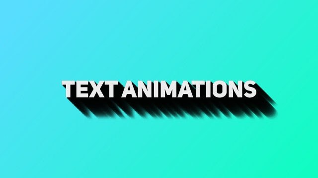 Text Animations: Premiere Pro Presets