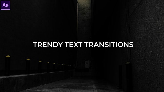 Trendy Text Transitions Presets: After Effects Presets