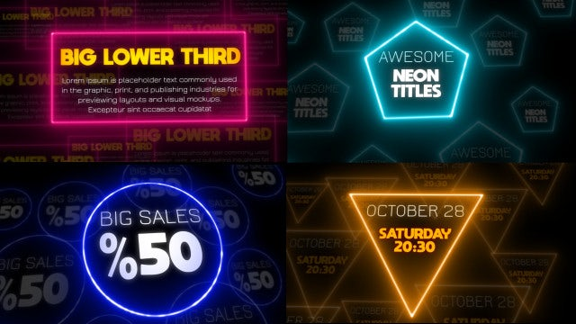 Neon Titles Pack: After Effects Templates
