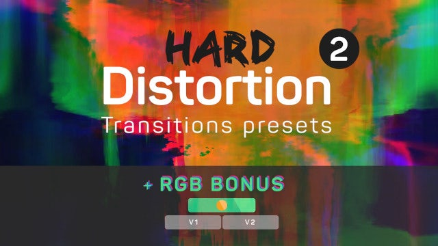 Hard Distortion Transitions 2 (+RGB): Premiere Pro Presets