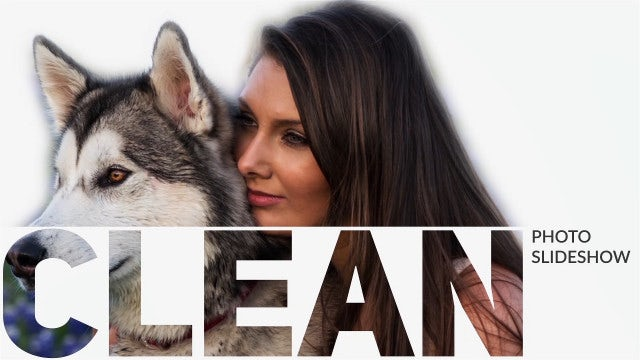 Clean Photo Slideshow: After Effects Templates