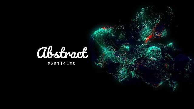 Advancing Green-Blue Light Particles: Stock Motion Graphics