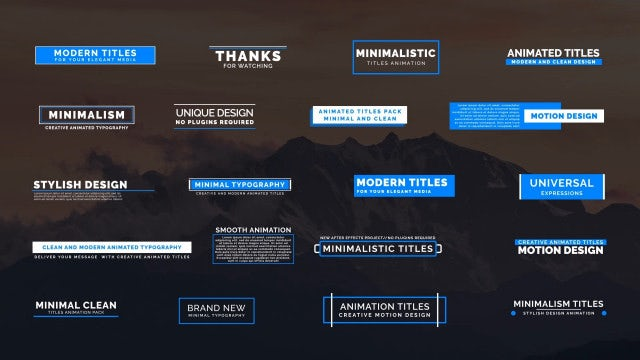 20 Animated Titles IV: Motion Graphics Templates