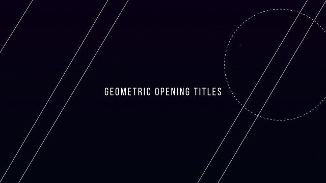 Geometric Opening Titles: After Effects Templates