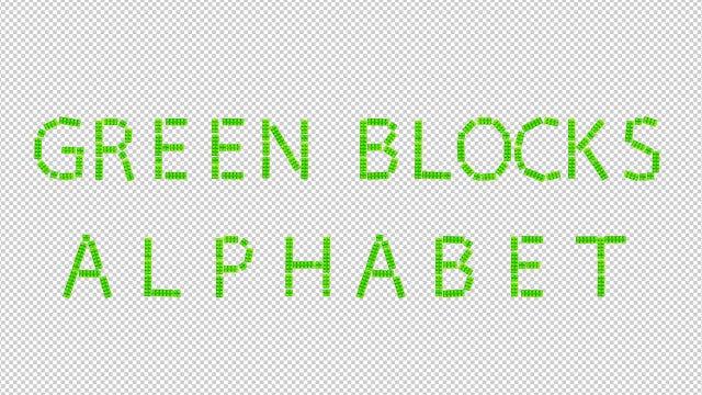 Green Blocks Alphabet: Stock Motion Graphics