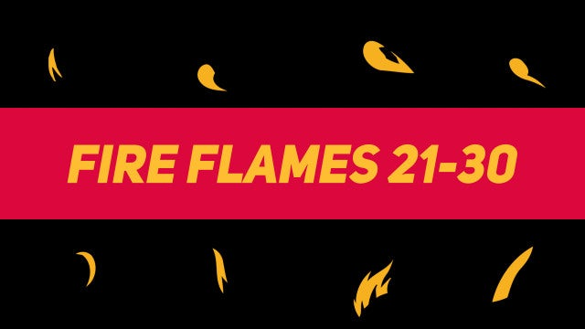 Liquid Elements Fire Flames 21-30: Motion Graphics Templates