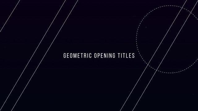 Geometric Opening Titles: Premiere Pro Templates
