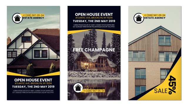 Real Estate Instagram Stories: Premiere Pro Templates