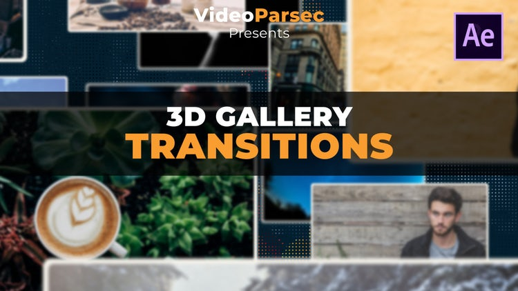 3D Gallery Transitions: After Effects Templates