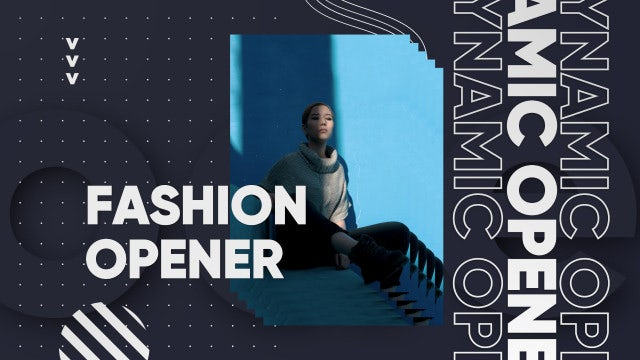 Dynamic Fashion Media Opener: Premiere Pro Templates