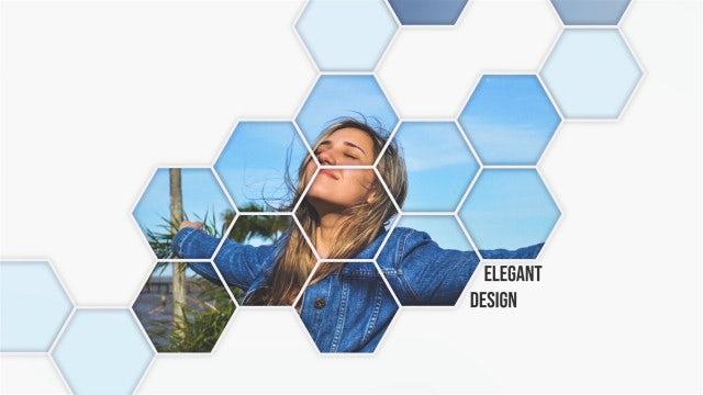 Stylish Hexagonal Slideshow: After Effects Templates