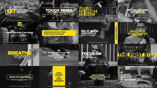 Modern Typography: Premiere Pro Templates