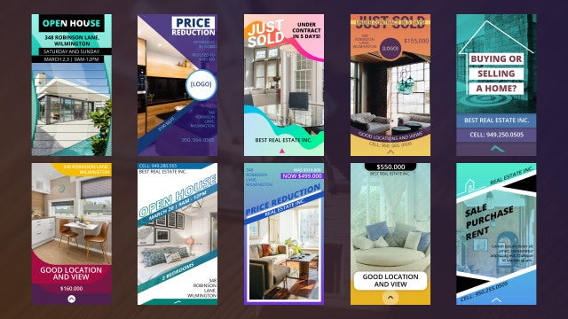 Instagram Real Estate Stories: Premiere Pro Templates