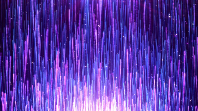 Blue Dream Particle Streaks Rising: Stock Motion Graphics