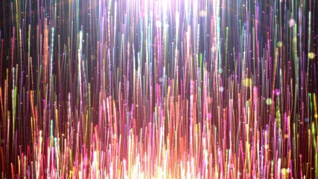 Rainbow Light Streaks Rising: Stock Motion Graphics