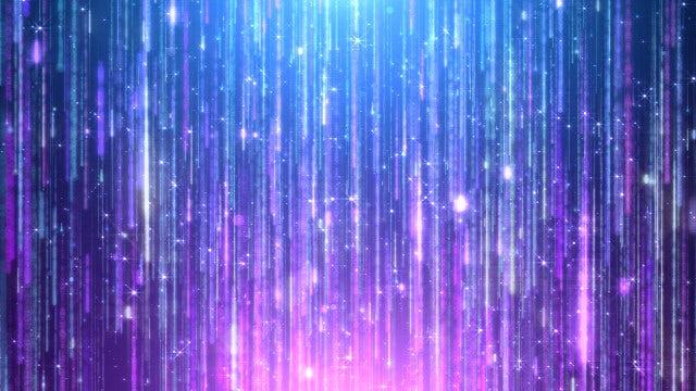 Blue Dream Shimmering Rain Strands: Stock Motion Graphics