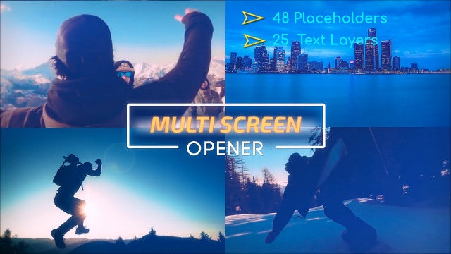 Multi Screen Opener: After Effects Templates