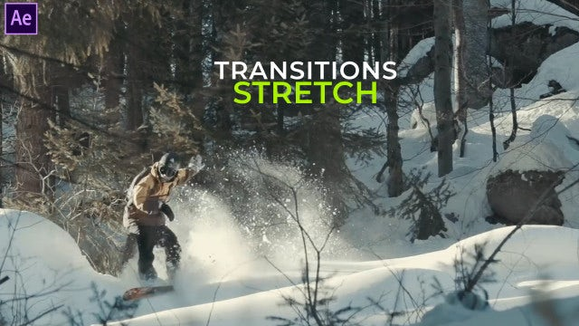 Stretch Transitions Presets: After Effects Presets
