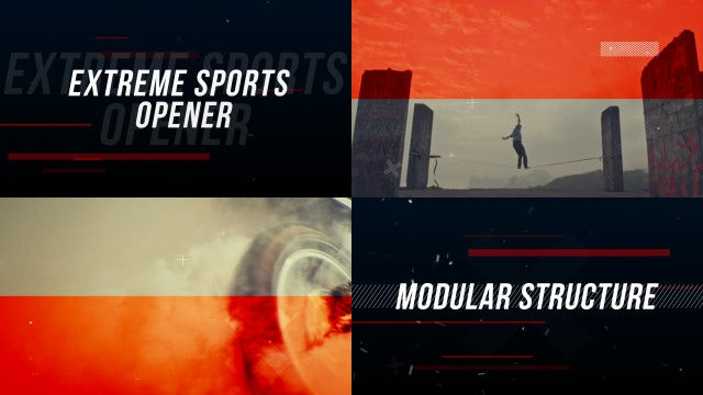 Extreme Sports Opener: After Effects Templates