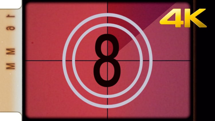 Vintage 16mm Leader Countdown: Stock Motion Graphics