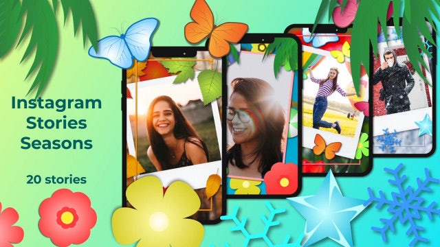 Instagram Stories Seasons: After Effects Templates