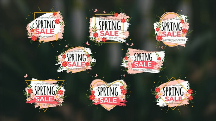 Spring Sale Titles: After Effects Templates