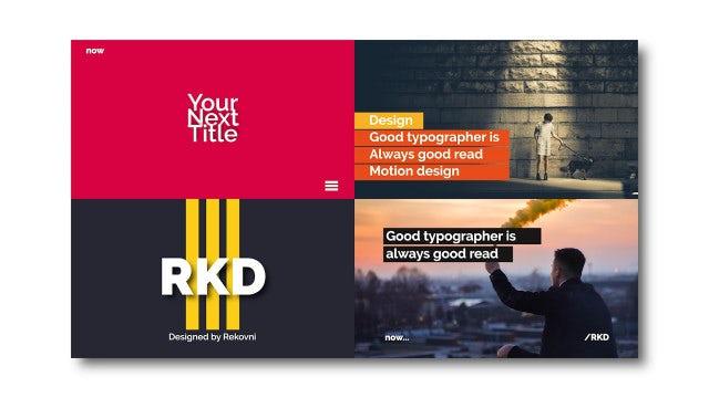 Modern Typography Scenes: Premiere Pro Templates