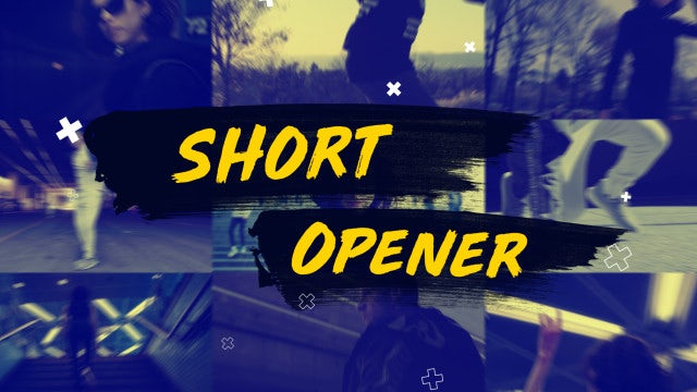 Short Modern Dynamic Opener: Premiere Pro Templates