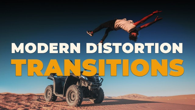 Modern Distortion Transitions: Premiere Pro Presets