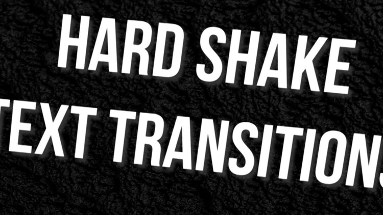 Hard Shake Text Transitions - Premiere Pro Presets | Motion Array