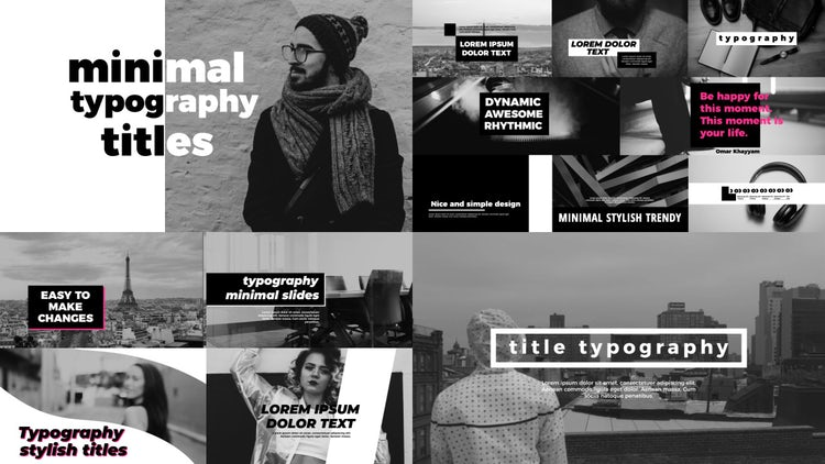 Minimal Urban Typography: After Effects Templates