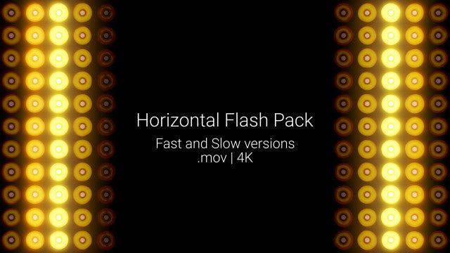 Horizontal Flash VJ Lamp: Stock Motion Graphics