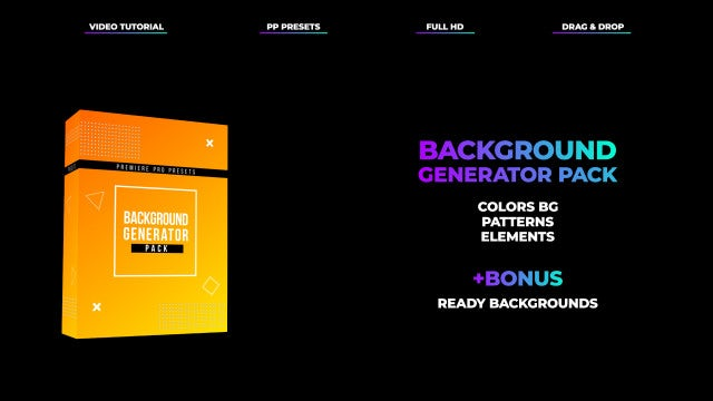 Background Generator Pack: Premiere Pro Presets