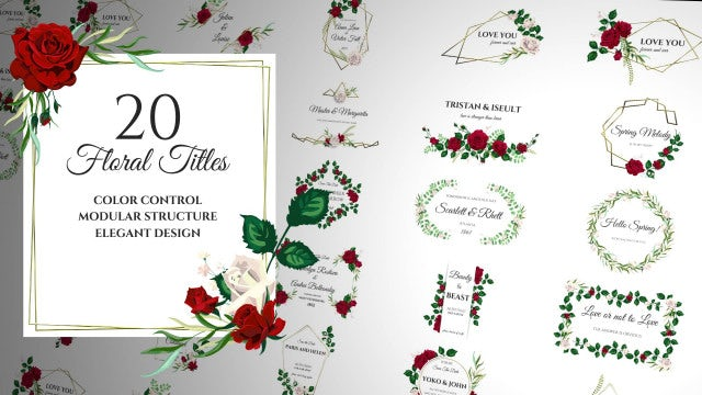 Floral Romantic Titles: After Effects Templates